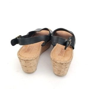 Born Shoes - Born Black Leather Wedge Sandals - Size 5